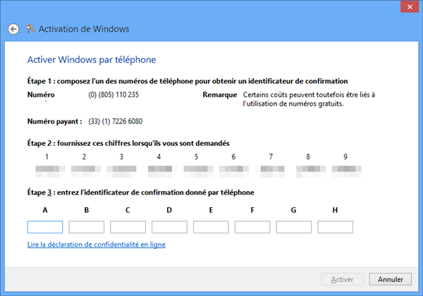 Windows 8 Activation
