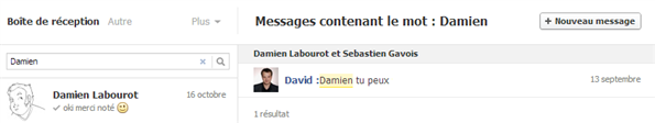 Facebook Messagerie Octobre 2012