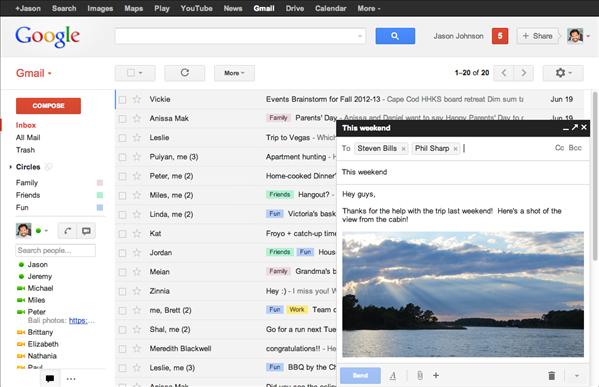 gmail ecriture message pop-up