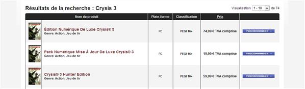 Crysis 3 Précommande Origin