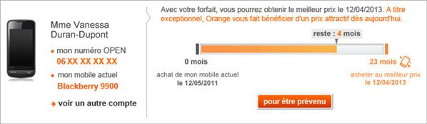 orange changer de mobile