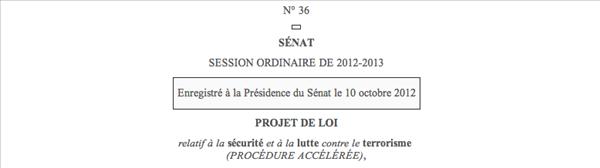 sénat projet de loi terrorisme