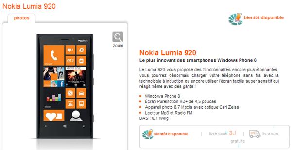 nokia lumia 920 orange bientot disponible