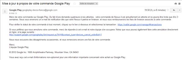 Nexus 4 retard