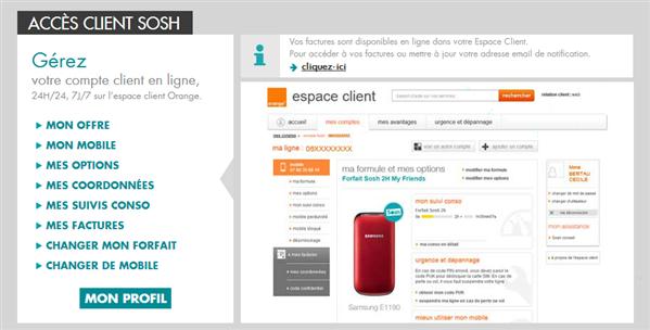 sosh espace client orange