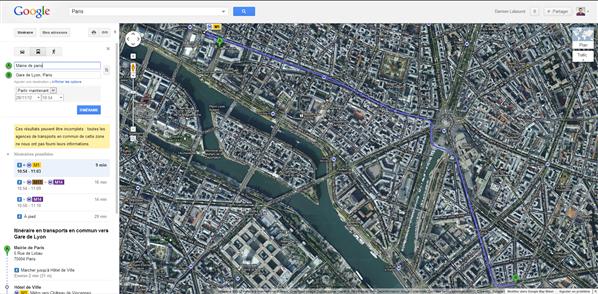 Google Transit
