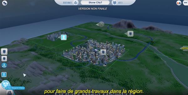 SimCity Ecran Region