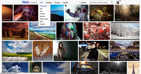 flickr barre navigation