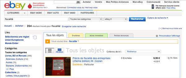 eBay fisc