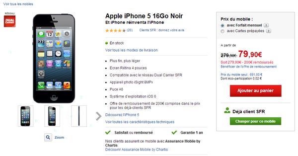 iphone 5 sfr