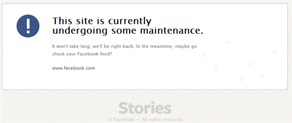 facebook stories maintenance