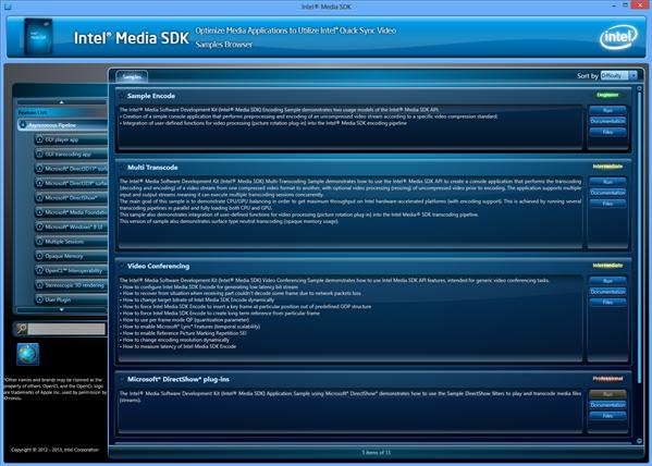 Intel Media SDK 2013