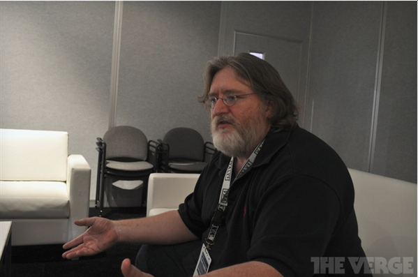 Gabe Newell The Verge