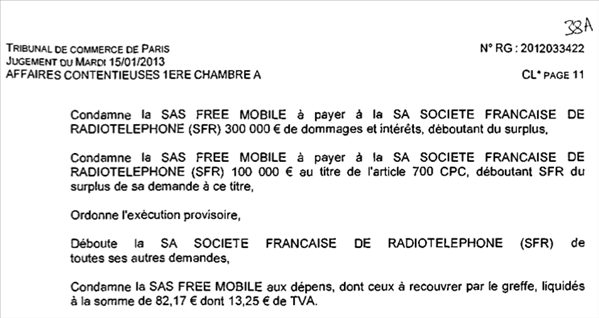 Tribunal Commerce Paris Free SFR