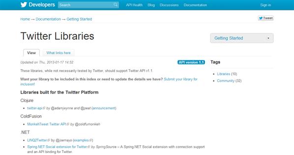 Twitter API Library