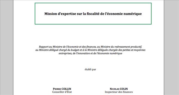 Rapport fiscalite economie numerique