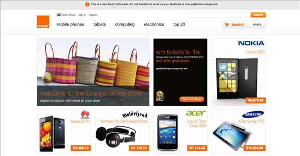 Orange Horizons boutique Afrique du Sud
