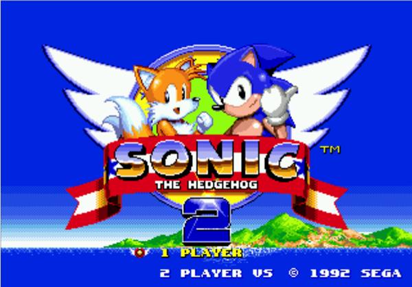 Sonic 2 menu