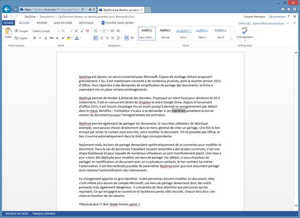 office word web app