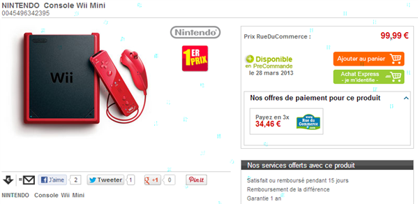 Wii Mini Rue du Commerce