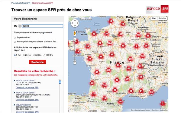 SFR boutiques France