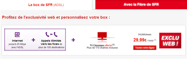 sfr ajoute la tv son offre la box adsl 29 99 quid de la redevance. Black Bedroom Furniture Sets. Home Design Ideas