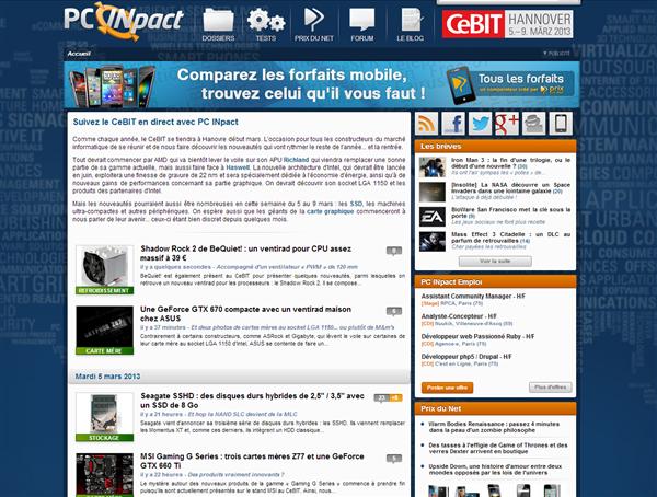 Page PC INpact CeBIT