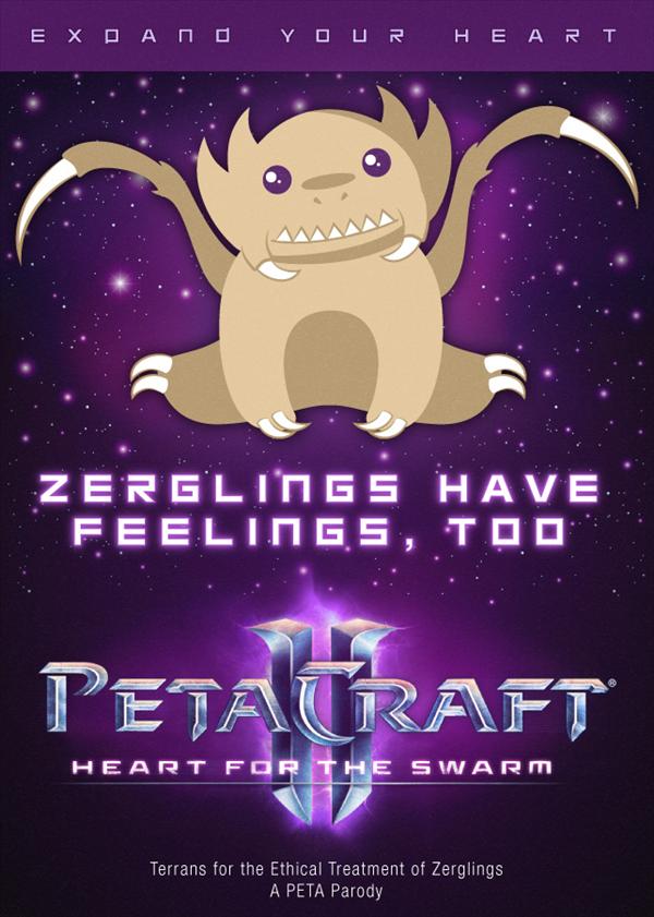 Starcraft Zerglings PETA