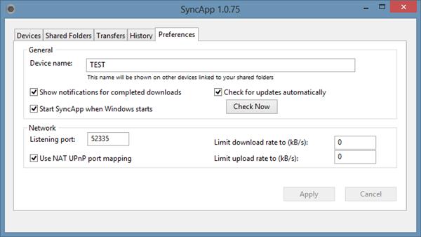 BitTorrent Sync 1.0.75