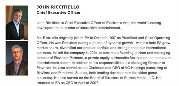EA John RIccitiello