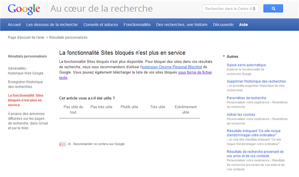 Google Sites bloqués