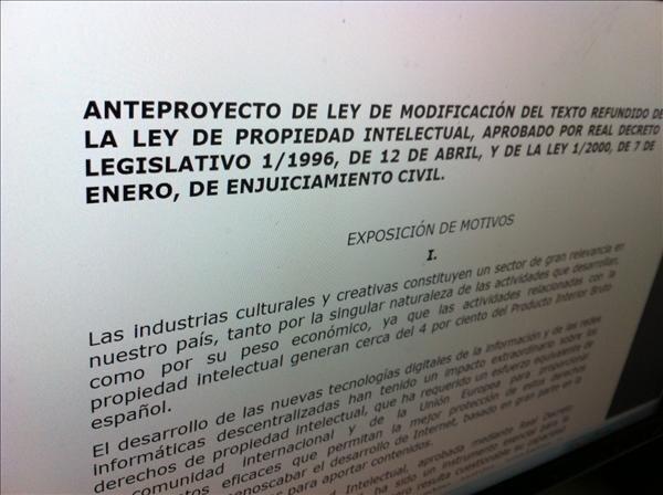 espagne legislation droit d'auteur