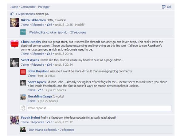 Facebook répondre commentaire