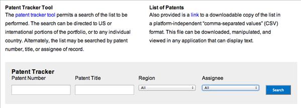 microsoft patent tracker