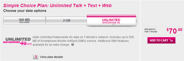 T-Mobile 4G illimitée