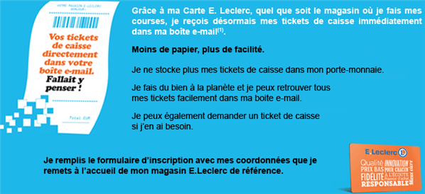 E. Leclerc ticket caisse electronique