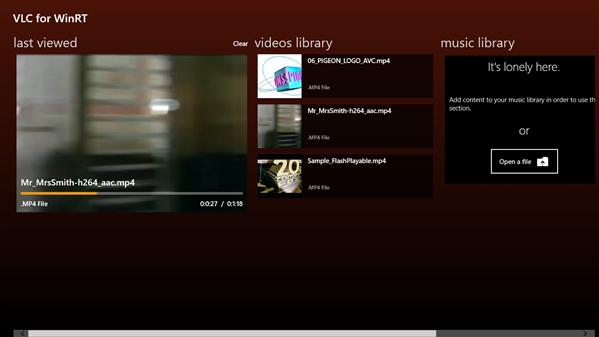 VLC Windows 8
