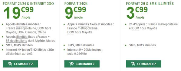 B&You forfait 3,99 €
