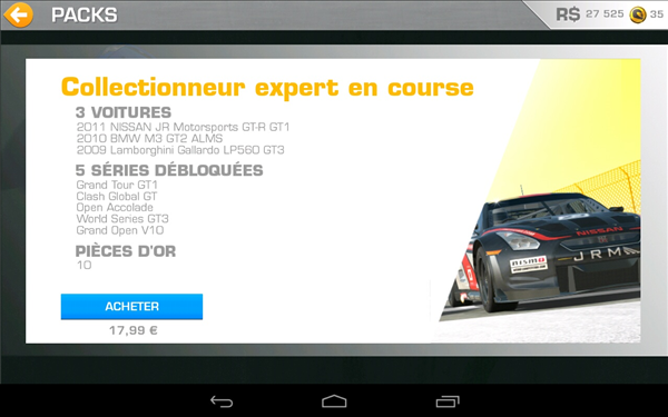 Real Racing 3 boutique