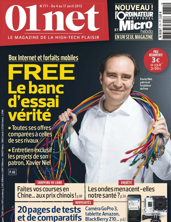 01Net Magazine Free Xavier Niel