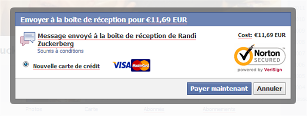 Facebook spam payant