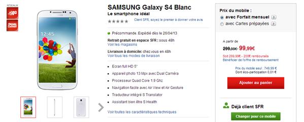 Galaxy S4 SFR