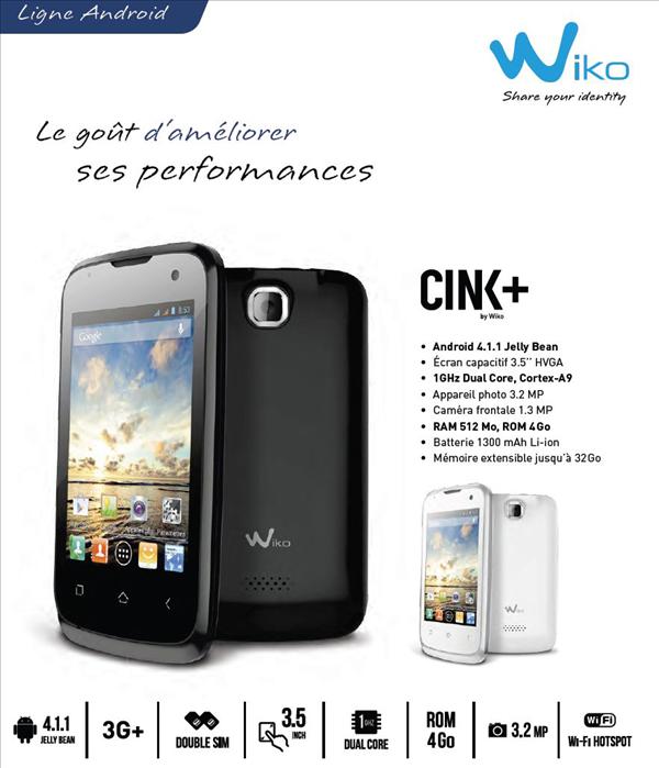 Wiko Cink+
