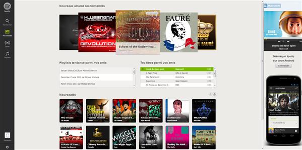 Spotify application web