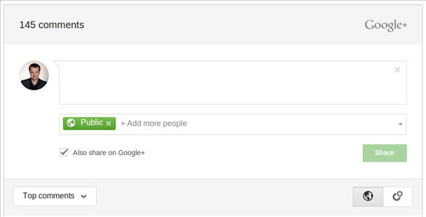 Google+ Commentaires