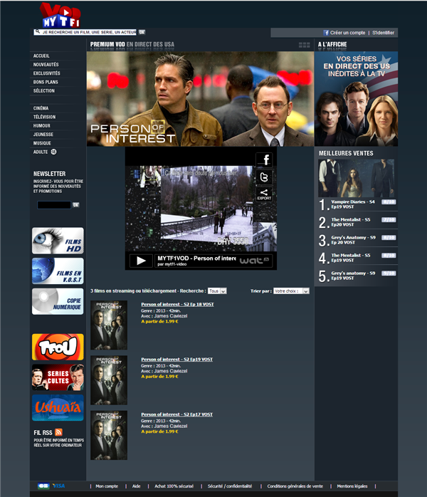 Person of Interest TF1 VoD