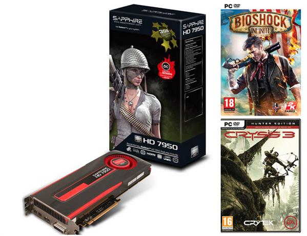 Sapphire Radeon HD 7950 Crysis 3 Bioshock Infinite