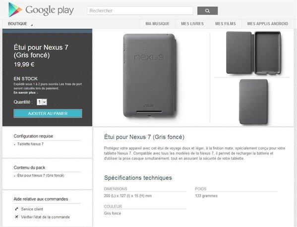 Etui Nexus 7