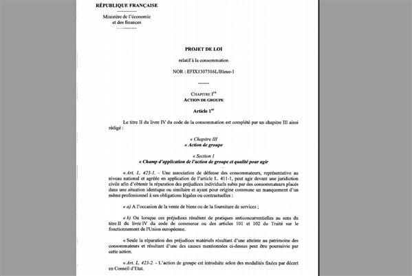 projet de loi Hamon consommation