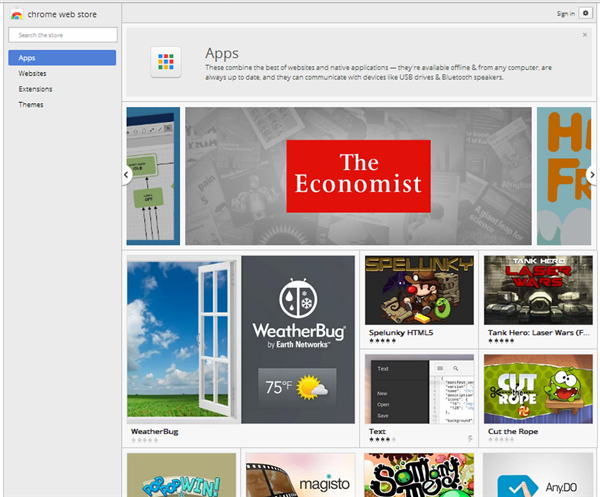 Chrome Web Store Apps